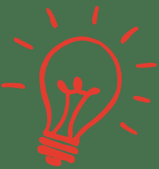 Red Lightbulb doodle