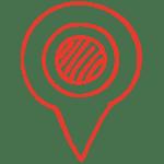 Red drop pin doodle
